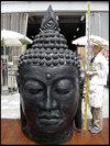 展示品!高さ2200mm巨大!仏陀ヘッド真鍮製?アジアンインテリア