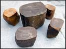 お庭にいかがですか?天然石テーブル・イス 庭石・鑑賞石